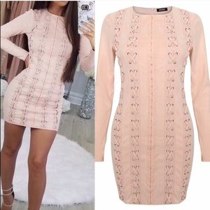 Carli Bybel x Missguided Faux Suede Dress NWT